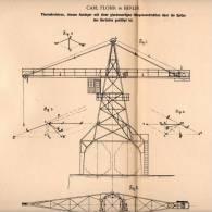 Original Patentschrift - Drehkran , Kran Mit Hängekonstruktion , 1901 , Carl Flohr In Berlin , Turmdrehkran !!! - Máquinas