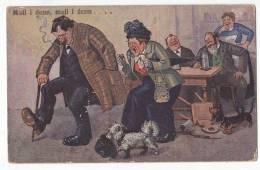Dachshound Dog Humor Ca1900 Original Postcard Cpa Ak (W3_692) - Honden