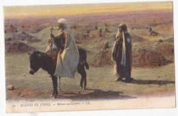 Ethnic Natives Donkey  Algerie To Uruguay Ca1900 Original  Postcard Cpa Ak (W3_704) - Volkeren & Culturen