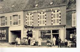 50-20  Manche  Port-Bail Hotel Du Nord Tres Belle Carte Annimée  Vitrine Boucherie Ln Guesdon Charcuterie - Otros Municipios