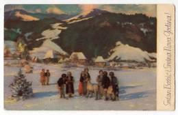 CHRISTMAS G. JURKIĆ CROATIAN CHRISTMAS CUSTOMS CHRISTMAS MORNING IN THE VILLAGE (BOSNIA) JAMMED OLD POSTCARD - Christmas