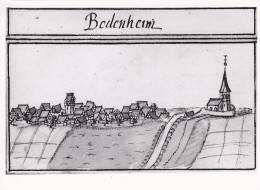 Foto Von 1960: Botenheim Um 1685, Aus Dem Kieserschen Forstlagerbuch, 18 X 13 Cm - Orte