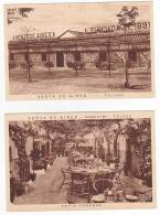 Spain Venta De Aires Toledo 2 Tarjetas Postales Restaurant Castellano 1900 Vintage Original Postcard Cpa Ak (W3_715) - Hoteles & Restaurantes