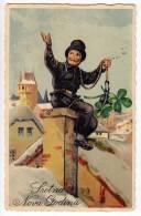 NEW YEAR CHIMNEY BOY Nr. 561 OLD POSTCARD - New Year
