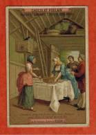Chromo Chocolat Poulain - La Pie Voleuse , Opéra De Rossini - Claudine Prépare Le Couvert Avec Ninette Pour Fêter Ect... - Poulain