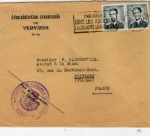 Enveloppe Administration Communale De VERVIERS , Voyagée 1967 , Tampon , Flamme - Belgique
