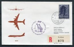 1965 Liechtenstein Zurich - Kampala Uganda SAS Registered Flight Cover - Liechtenstein