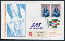 1968 Liechtenstein Zurich - Dar Es Salam Tanzania SAS Schaan Registered Flight Cover - Liechtenstein