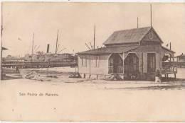 CPA REPUBLIQUE DOMINICAINE REPUBLICA DOMINICANA SAN PEDRO DE MACORIS Comandancia Del Puerto Port Harbour 1904 - Dominican Republic