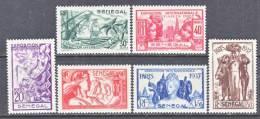 Senegal 172-77     * PARIS  WORLD  FAIR - Senegal (1887-1944)