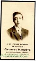 Pieux Souvenir Georges MAROTTE - Décédé Accidentellement à ROMEDENNE En 1929 à L'âge De 24 Ans - Devotion Images