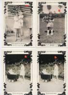 39578-ZE-FANTAISIE-SOUVENIRS D´ENFANCE-6 CP Dont 2 En Doubles--fillettes Jouant à La Poupée Ou Avec Un Bouquet De Fleur - Cartes Postales