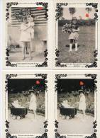 39580-ZE-FANTAISIE-SOUVENIRS D'ENFANCE-6 CP Dont 2 En Doubles--fillettes Jouant à La Poupée Ou Avec Un Bouquet De Fleur - Postcards