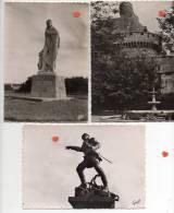 39643-ZE-35-SAINT-MALO-Lot De 5 CPSM-----------statues-tombeaux - Cartes Postales