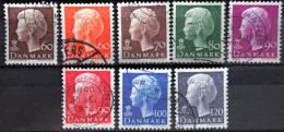 1974    MiNr.557y,559y,560y,561y, 562y,569y,570y571x ( 0) + MNH (**)    ( L 157 ) - Denmark