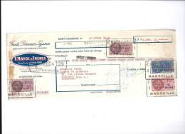 MANDAT  20/04/1940  -  SAINT  CHAMOND  -  F.  MAYOL  -  Fruits,  Primeurs,  Légumes  -  Produits D' Algérie  -  VIGIL - Cambiali