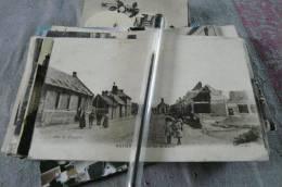 Rosières En Santerre Rue De La Gare Animée Gros Plan Somme 80 - Rosieres En Santerre