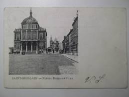 Cpa Saint Ghislain Nouvel Hôtel De Ville - Belgique Vue Rare 1902 - BE01 - Saint-Ghislain