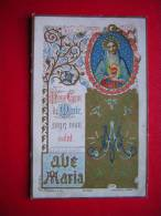 IMAGE  PIEUSE / RELIGIEUSE BENZIGER & CO   AVE MARIA  DOUX COEUR DE MARIE SOYER MON SALUT - Devotieprenten