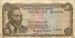 BILLET KENYA 5 SHILLINGS 1971 - Kenya