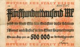 ALLEMAGNE BILLET 500000 MARK 1923 - Collections