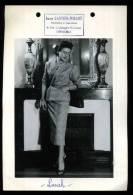 """GRANDE PHOTO MODE ART DECO ORIGINALE ARGENTIQUE 13X18 JANE CARTIER MILLON GRENOBLE """"""""LUNCH"""""""" - Persone Identificate"""