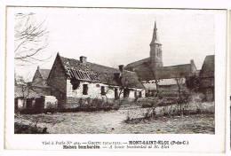 MONT-SAINT-ELOI ( Pas De Calais )  Maison Bombardée - Sonstige Gemeinden
