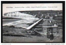 76 - CRIEL-PLAGE - PANORAMA DE LA PLAGE - LA VALLEE - COTEAUX D´ YANVILLE ET CHANTEREINE - FALAISES VERS TREPORT - Criel Sur Mer