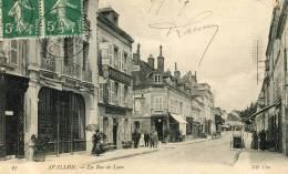 CPA 89 AVALLON LA RUE DE LYON 1907 - Avallon