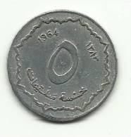 1964 - Algeria 5 Centimes, - Algeria