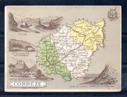 Hachette Et Cie - Bognard - Carte De Corrèze - Mapas Geográficas