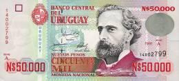 ® URUGUAY: 50000 Nuevos Pesos (1991) UNC - Uruguay