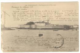 G1174 Concarneau - Vue Generale De La Ville Close - Old Mini Card / Viaggiata 1904 - Concarneau