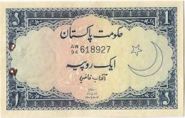 Pakistan Old One Rupees Banknote 1971,Signature Is AFTAB QAZI AUNC - Pakistan