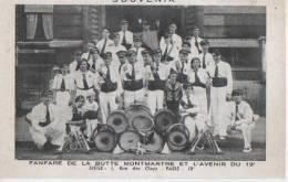 PARIS ( Fanfare De La Butte Montmartreet L.avenir Du 19eme ) - Distretto: 18
