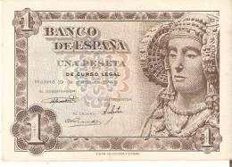 BILLETE DE 1 PTA DEL AÑO 1948 SERIE B CALIDAD MBC   DAMA DE ELCHE  (BANKNOTE) - [ 3] 1936-1975 : Régence De Franco