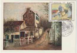 Carte-Maximum FRANCE N° Yvert 2297 (UTRILLO - Le Lapin Agile) Obl Sp Ill 1er Jour (Ed Hazan) - 1980-89