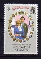 Solomon Islands - 1982 - Cyclone Relief Fund - MNH - Salomon (Iles 1978-...)