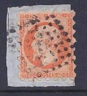 France, Scott # 18 Used Susse Perforations Napoleon III, 1853, On Piece - 1853-1860 Napoleon III