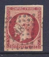 France, Scott # 19 Used Napoleon III, 1854, 4 Nice Margins - 1853-1860 Napoleon III