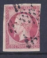 France, Scott # 20 Used Napoleon III, 1860, 3 Nice Margins - 1853-1860 Napoleon III