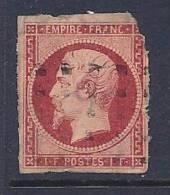 France, Scott # 21 Used Napoleon III, 1853, CV$3250.00. Nice Margins But Corner Defect, Paper On Back - 1853-1860 Napoleon III