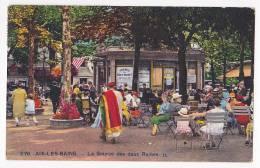 Aix Les Bains - La Sourde Des Deux Reines (terrasse Animée, Drapeau Américain, Marchand De Tapis) Circulé 1930 - Aix Les Bains