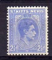 St Kitts Nevis - 1938 - 2½d Definitive - MH - St.Christopher-Nevis-Anguilla (...-1980)