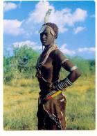 AFR-136    OMO VALLEY : Demi-nude Girl - Ethiopia