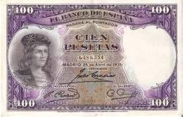 BILLETE DE ESPAÑA DE 100 PTAS DEL AÑO 1931 SIN SERIE - GONZALO DE CORDOBA CALIDAD EBC - [ 2] 1931-1936 : Repubblica