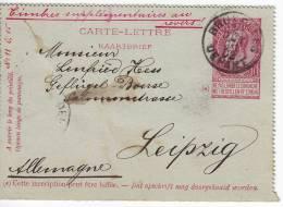 869. Belgium, 1902, Carte - Letter - 1893-1900 Schmaler Bart