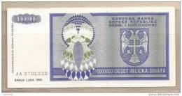 Rep. Serba Di Bosnia Erzegovina - Banconota Circolata Da 10.000.000 Dinari - 1993 - Bosnia And Herzegovina