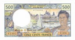 Polynésie Française / Tahiti - 500 FCFP - Alphabet C.016 / 2012 / Signatures Barroux-Noyer-Besse- Neuf  / Jamais Circulé - Papeete (Polynésie Française 1914-1985)