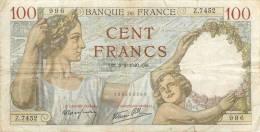 BILLET  100 FRANCS  SULLY 8/02/1940 - 1871-1952 Anciens Francs Circulés Au XXème